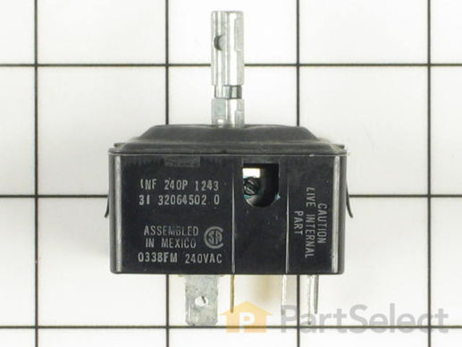 11741006-1-S-Whirlpool-WP32064502-Surface Burner Infinite Switch