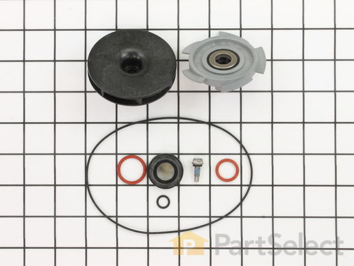 11743047-1-S-Whirlpool-WP6-915435-Motor/Pump Impeller and Seal Assembly