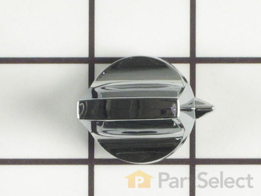 11743974-1-S-Whirlpool-WP74001254-Thermostat Knob - chrome