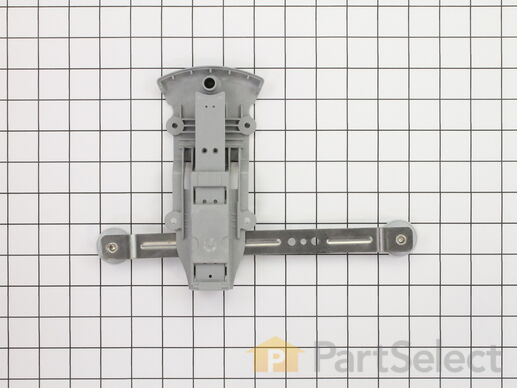 11749126-1-S-Whirlpool-WPW10153530-Rack Adjuster with Wheels - Left Side