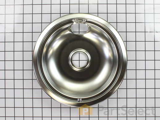 11750107-1-S-Whirlpool-WPW10196405-Chrome Drip Bowl - 8""