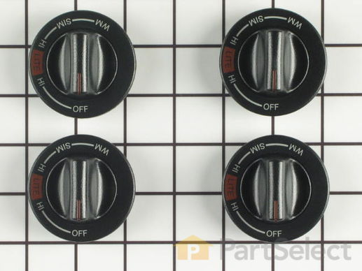 2007394-1-S-Whirlpool-12500061-Gas Range Knobs - Kit of 4
