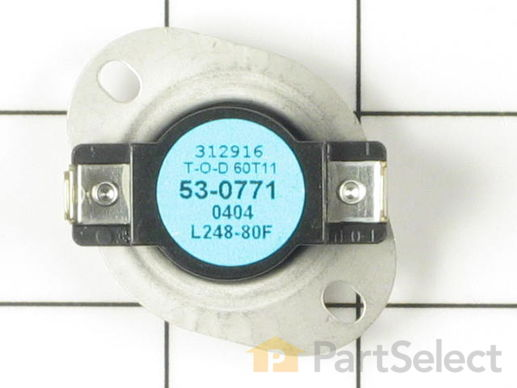 2047800-1-S-Whirlpool-53-0771-High Limit Thermostat - Limit: 258-80
