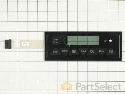 2089486-1-S-Whirlpool-7403P331-60-Oven/Clock Membrane Touch Panel