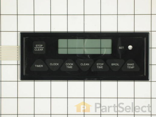 2089486-2-S-Whirlpool-7403P331-60-Oven/Clock Membrane Touch Panel