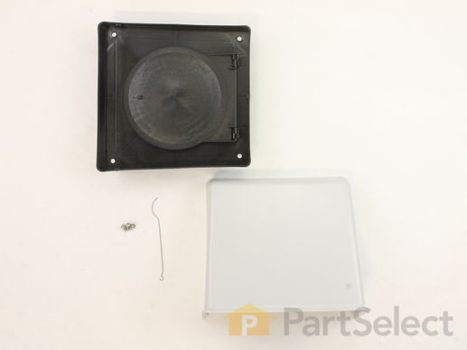 "2105233-2-S-Whirlpool-A406-Wall Vent Cap Kit - 6"" duct"