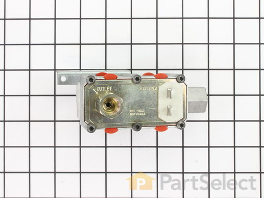 "233873-2-S-GE-WB19K14           -Dual Oven Safety Valve - Horizontal 3/8"" Inlet"