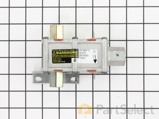 "233873-3-S-GE-WB19K14           -Dual Oven Safety Valve - Horizontal 3/8"" Inlet"
