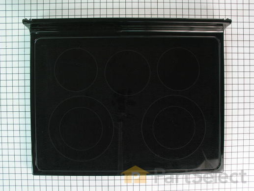 2338775-1-S-Whirlpool-W10188468-Main Cooktop Glass - Black