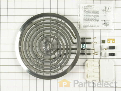 244048-1-S-GE-WB30X354          -Tilt-Lock Hinge-Mounted Surface Burner - 8""