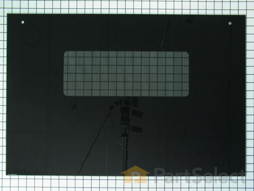 253236-1-S-GE-WB57T10110        -Outer Oven Door Glass - Black