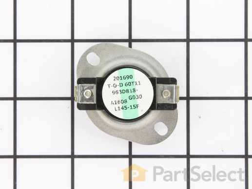 268095-1-S-GE-WE4X600           -Thermostat - Limit: 145-15