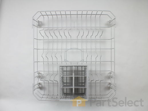 3501353-1-S-GE-WD28X10324-Lower Dishrack Assembly with Wheels