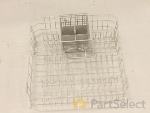 3501353-3-S-GE-WD28X10324-Lower Dishrack Assembly with Wheels