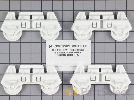 358588-2-S-Whirlpool-4317933           -Tandem Rack Rollers - Set of 4