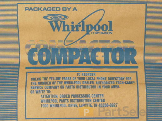 "382653-1-S-Whirlpool-675186            -15"" Paper Compactor Bags - 12 Pack"