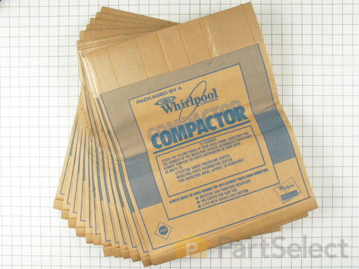 "382653-3-S-Whirlpool-675186            -15"" Paper Compactor Bags - 12 Pack"