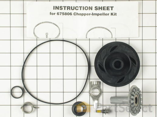 382822-2-S-Whirlpool-675806            -Drain and Wash Impeller Kit