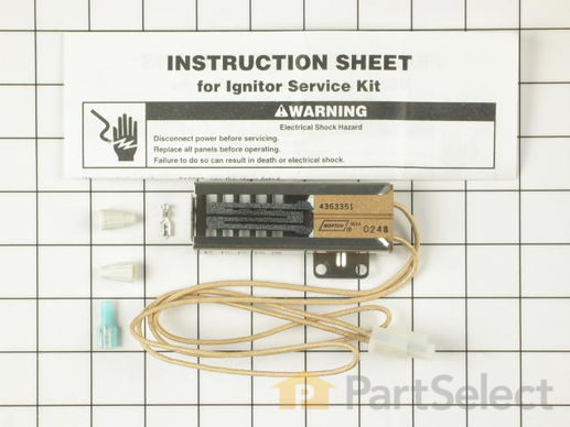 389156-2-S-Whirlpool-814269            -Flat Style Oven Igniter