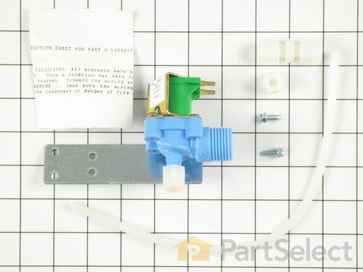 468507-2-S-Frigidaire-5303917098        -Single Outler Water Valve Kit
