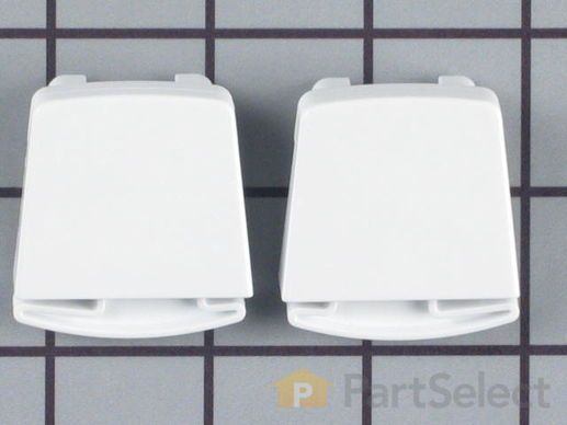 469917-1-S-Frigidaire-5303925377        -Door Shelf End Cap Set - Left and Right Side