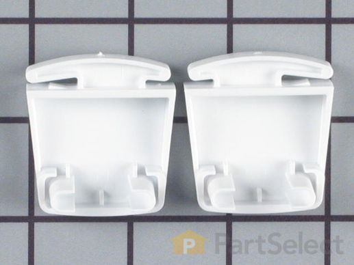 469917-2-S-Frigidaire-5303925377        -Door Shelf End Cap Set - Left and Right Side