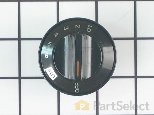 726157-1-S-Frigidaire-5303325646        -Surface Burner Knob - Black