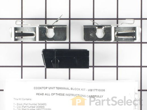 783534-4-S-GE-WB17T10006        -Surface Burner Terminal Block Kit