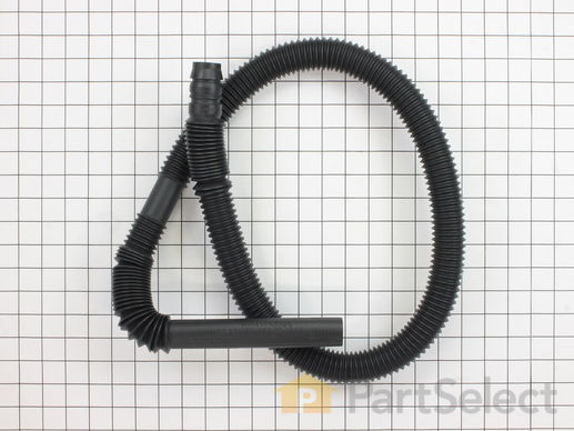 890597-1-S-GE-WH41X10096        -Drain Hose Extension - 4 1/2' Long