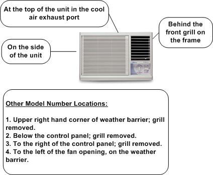 air conditioner model number locator find the right part for your rh partselect com Admiral Room Air Conditioner Digital Admiral Heating and Air Conditioning